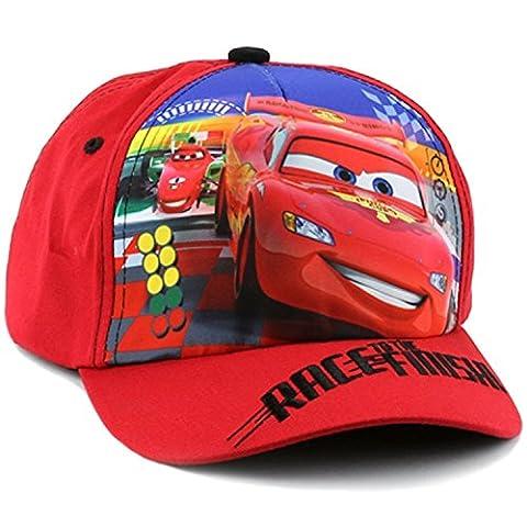 Disney Cars Lightning McQueen Little Boys Toddler Baseball Hat (Red)