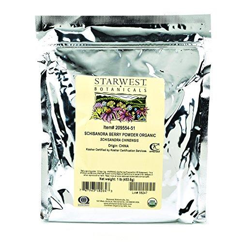 Starwest Botanicals Organic Schisandra Berry Powder, 1 Pound