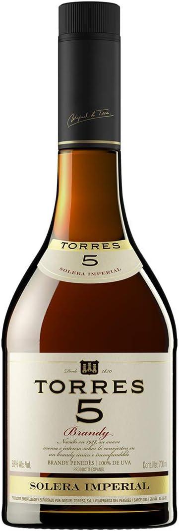 Torres 5 Solera Reserva, Brandy, 70 cl - 700 ml