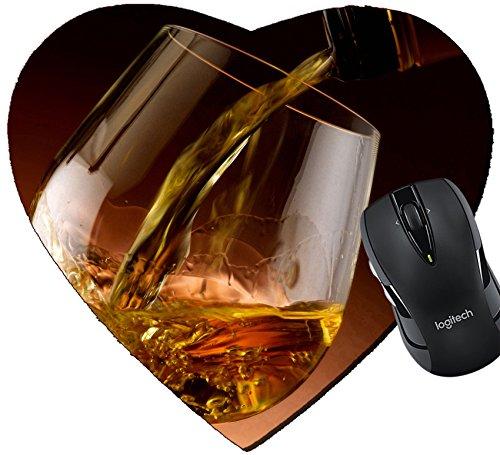MSD Mousepad Heart Shaped Mouse Pads/Mat design: 27864511 Glass of (Shaped Cognac)