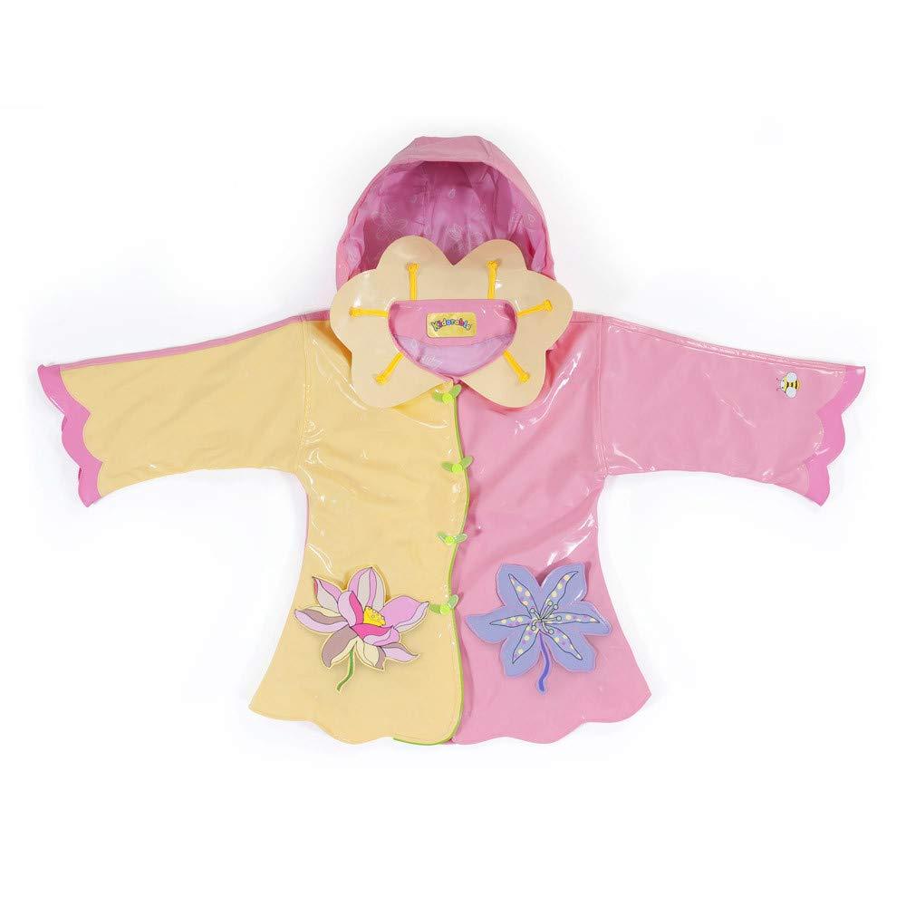 Kidorable Girls' Little Lotus Flowers All Weather Waterproof Coat, Yellow, 4/5 by Kidorable