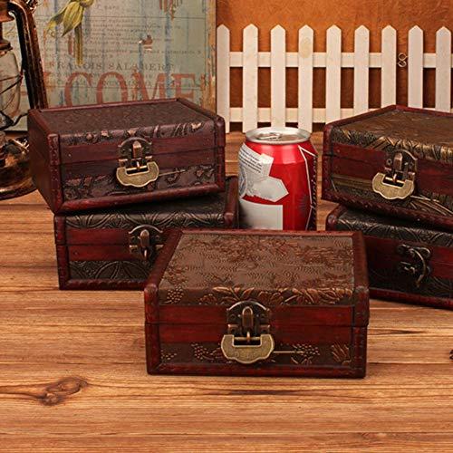 Bags Wrapping Supplies - Lockable Wooden Jewelry Storage Box Case Necklace Earrings Holder Organizer - Custom Eye Bracelet Box & Cautery Rustic Storage Color Dress Dark Lock Usb Jewelry Wood