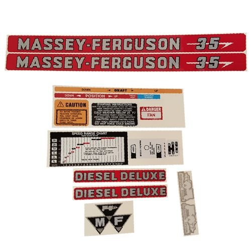 Complete Tractor Decal Set for Massey Ferguson 35