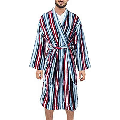 Majestic International Men's Chill Chasing Terry Velour Kimono Robe