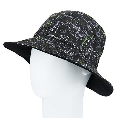 Reversible Sun Hat - Fashion Reversible UPF 50+ Bucket Hat Wide Brim Flodable Printed Cotton Sun Hat