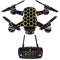 Skin for DJI Spark Mini Drone Combo - Primary Honeycomb| MightySkins Protective, Durable, and Unique Vinyl Decal wrap cover | Easy To Apply, Remove, and Change Styles | Made in the USA