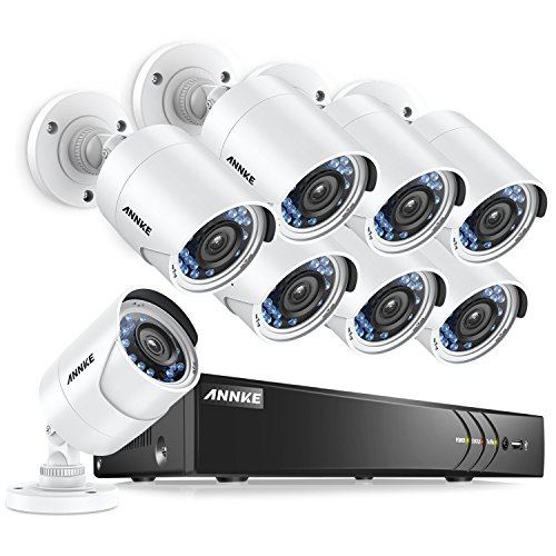 ANNKE CCTV Camera Systems 8CH 2MP 5-in-1 Security DVR and  2