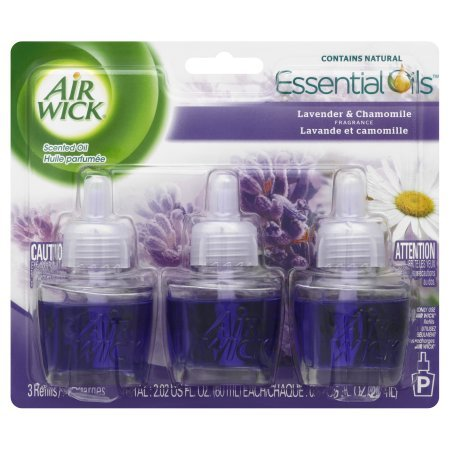 Air Wick Scented Oil Air Freshener, Lavender and Chamomile Scent, Triple Refills, 0.67 Ounce