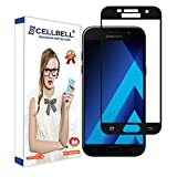 CELLBELL Samsung Galaxy A5(2017)(FULL GLUE)(EDGE TO EDGE)(BLACK) Tempered Glass Screen Protector With FREE Installation Kit