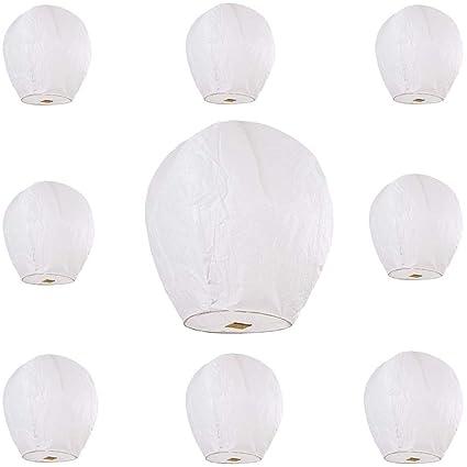 Amazon.com: Maikerry - Linternas de papel volador grandes ...