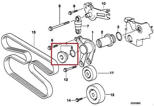 GTV INVESTMENT 3 E46 2.0d 110kW Bolzen f/ür Spannhebel 11282243508 Neu Original