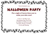75 Spider Themed Halloween Invitations with Envelopes