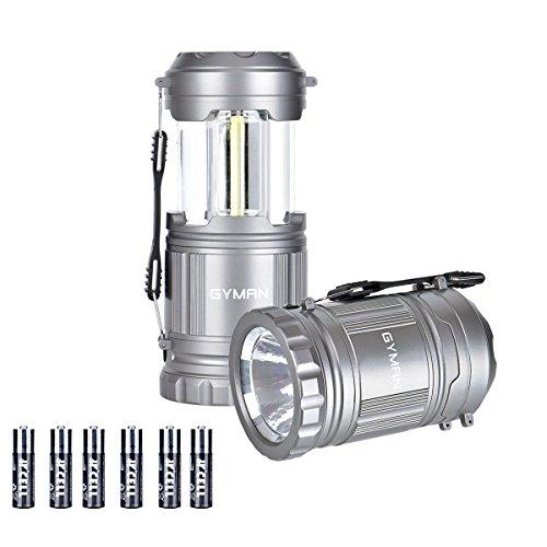 GYMAN Camping Lantern LED Handheld Lantern 500 Lumens bright for Outdoor Hiking Emergencies 2 Pack