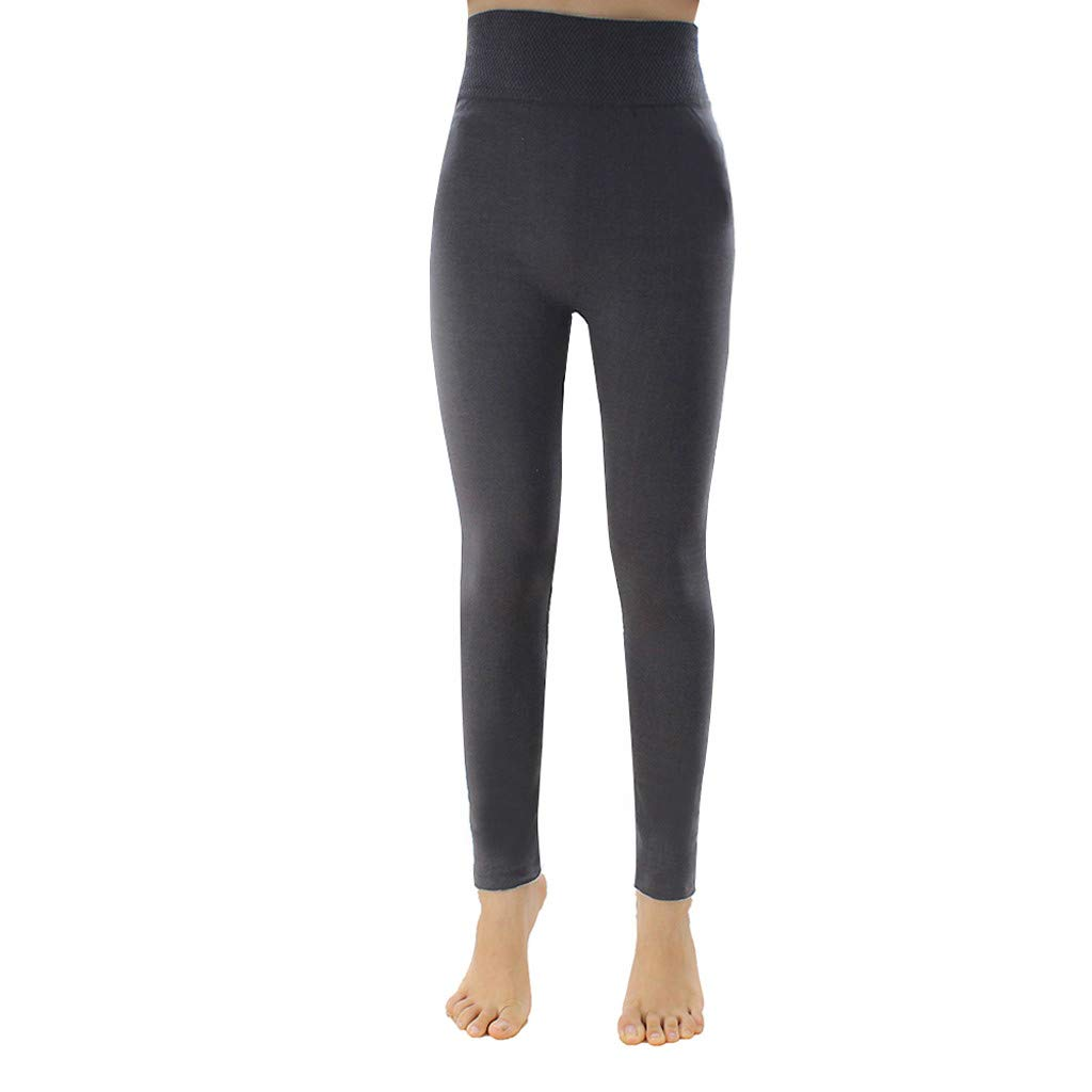 Amazon.com: TOPUNDER Yoga Fleece LinedSoft High Waist ...