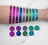 TZ COSMETIX - Glitter Injections Single Color Glitter Diamond Rainbow Eyeshadow Cosmetics - U can Fill the Eyeshadow in Magnet Palette Q17-34 (Q34)