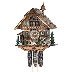 German Cuckoo Clock 8-day-movement Chalet-Style 18.00 inch - Authentic black forest cuckoo clock by Hekas