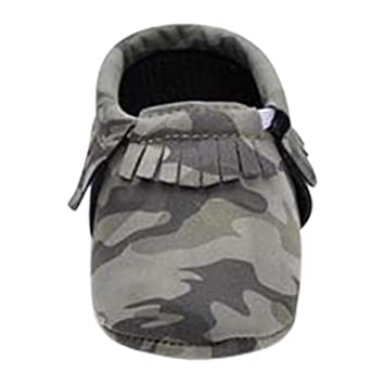 Amazon.com : Infant Baby Boy Girl Toddler Camouflage Moccasins Crib Shoes Booties (6-12 Months, Green) : Baby