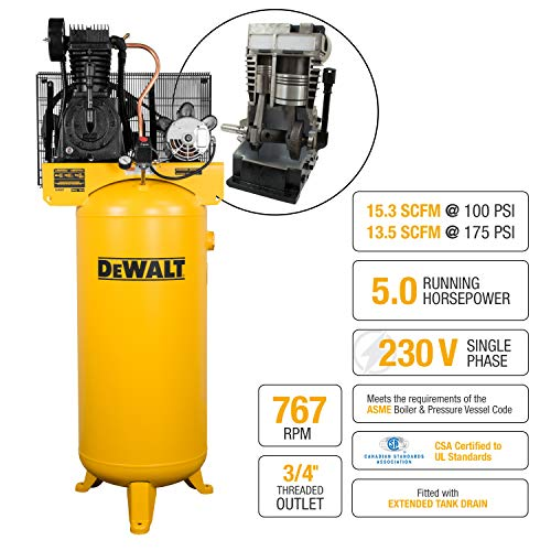 DeWalt DXCMV5076055 60 gallon 5 hp Two Stage Air Compressor