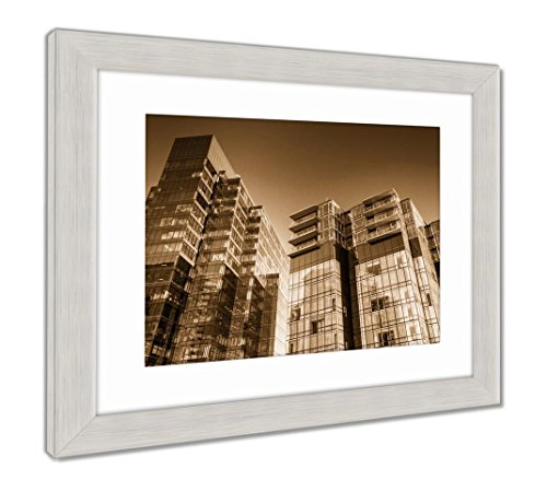 Ashley Framed Prints The Legg Mason Building In Harbor East Baltimore Maryland  Wall Art Home Decoration  Sepia  26X30  Frame Size   Silver Frame  Ag6328798