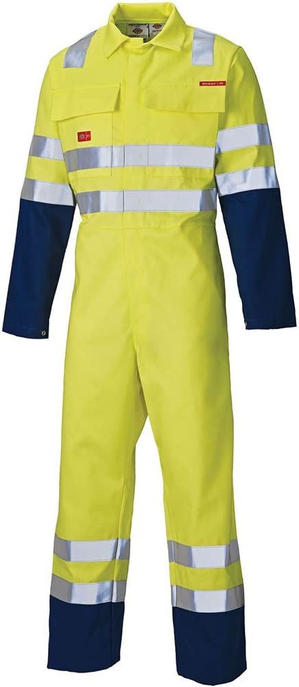 Yellow Dickies FR4870 YL 38 Size 48 Proban Safety Coverall