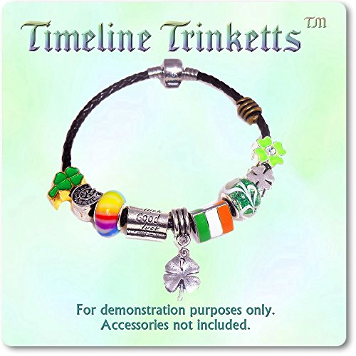 European Charm Bracelet Charms and Beads For Women and Girls Jewelry, Lucky Irish Green by Timeline Treasures (Image #3)