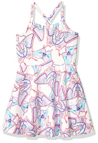 The Children's Place Baby Girls Off Shoulder Dress, Simplywht, 5T