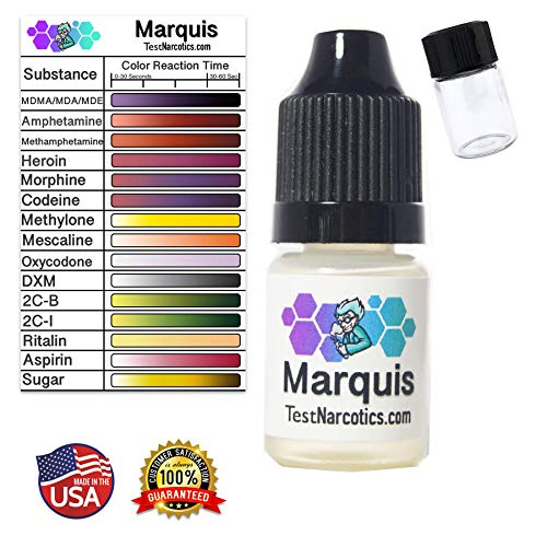 Drug Test Reagent Marquis | MDMA (Ecstasy, Molly) Meth, Heroin & More!