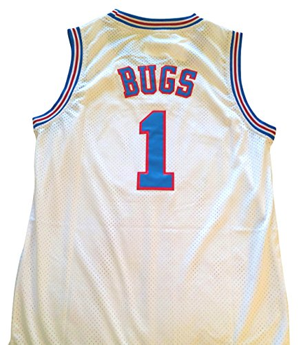 (space jam Bugs Bunny Jersey - #1 Tune Squad - White)