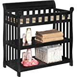 Delta Children's Products Eclipse 2-Shelf Baby Changing Table - Black Cherry