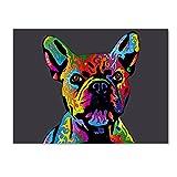 french bulldog poster - Trademark Fine Art French Bulldog Grey by Michael Tompsett, 18x24-Inch Canvas Wall Art