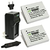 Wasabi Power Battery (2-Pack) and Charger for Canon NB-6L, NB-6LH, CB-2LY and Canon PowerShot D10, D20, D30, ELPH 500 HS, S90, S95, S120, SD770 IS, SD980 IS, SD1200 IS, SD1300 IS, SD3500 IS, SD4000 IS, SX170 IS, SX240 HS, SX260 HS, SX270 HS, SX280 HS, SX500 IS, SX510 HS, SX520 HS, SX530 HS, SX600 HS, SX610 HS, SX700 HS, SX710 HS