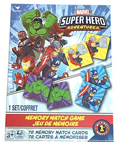 Marvel Super Hero Adventures Memory Match Game 72 Cards