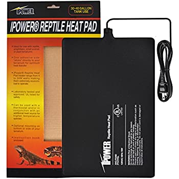 iPower 8 by 12-Inch 16 Watt Reptile Heat Pad Under Tank Terrarium Warmer Heat Mat for Small Animals