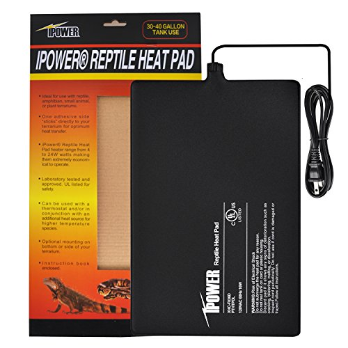 iPower 8 by 12-Inch 16 Watt Under Tank Terrarium Warmer Heat Pad for Reptiles and Small Animals