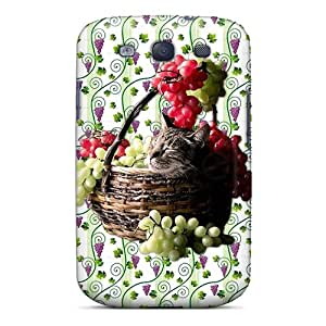Cute High Quality Galaxy S3 Grape Harvest Cat Nap Case
