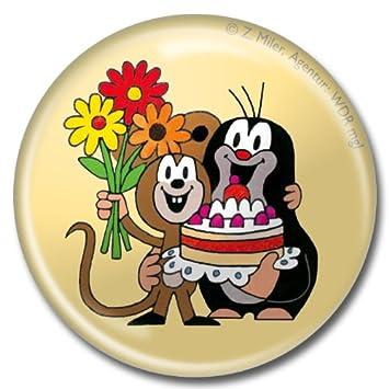 Amazon De Der Kleine Maulwurf Button 32mm Maulwurf Mit Maus Und Torte