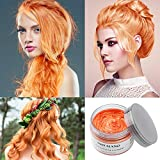 Orange Temporary Hair Dye Wax 4.23 oz, Instant