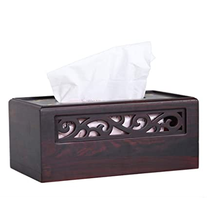 caja de pañuelos Natural Facial Cover Rellenable De Madera ...