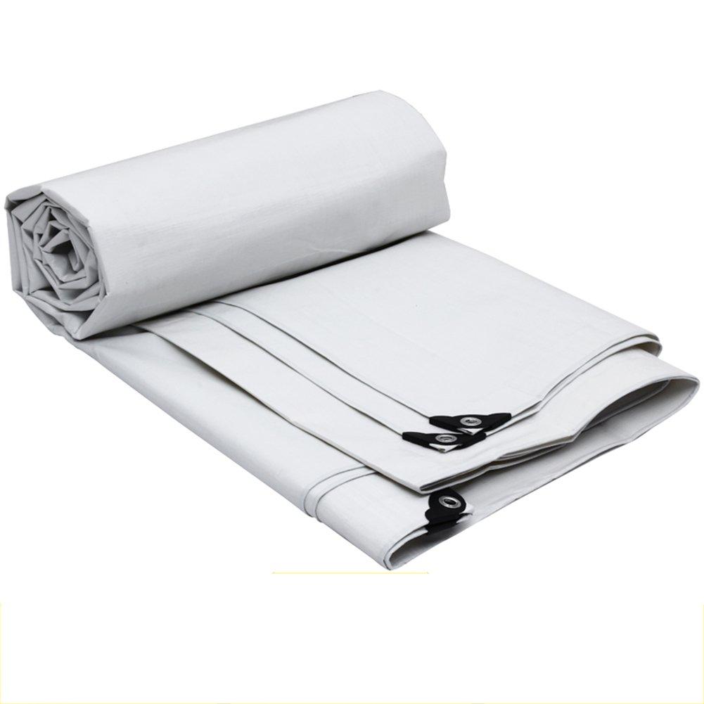 PENGFEI ポリエチレン オーニング 防水 雨布 ピクニックマット 植物 動物 日焼け止め プラスチック リノリウム 抗酸化、 6サイズのオプション ( 色 : 白 , サイズ さいず : 4x6M ) B07BSMT7SC 4x6M|白 白 4x6M