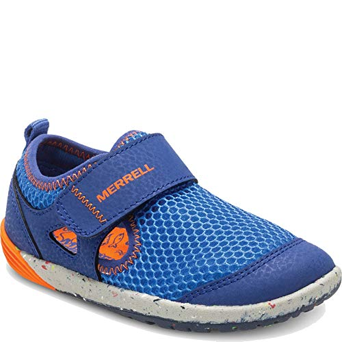 Merrell Boys' Bare Steps H20 Water Shoe, Blue/Orange, 6 Medium US Toddler