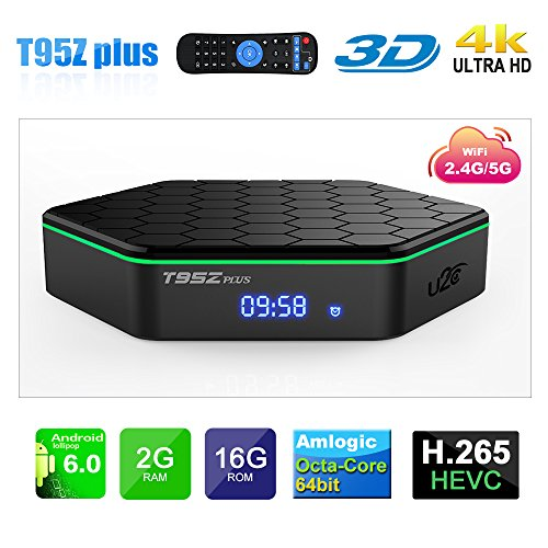 Android TV Box 2GB Ram 16GB Rom,U2C T95Z Plus Android 6.0 TV Box Amlogic S912 Octa-Core Dual-Band WIFI Bluetooth 4K Smart TV Box. by U2C
