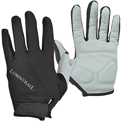 Lumintrail Shock-Absorbing Riding Full Finger Cycling Bike Gloves Breathable Sport for Men and Women (Black, X-Large) ()