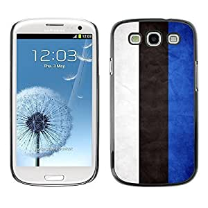 Shell-Star ( National Flag Series-Estonia ) Snap On Hard Protective Case For Samsung Galaxy S3 III / i9300 i717