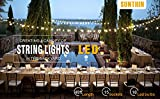 SUNTHIN 2 Pack 48ft LED Outdoor String Lights with