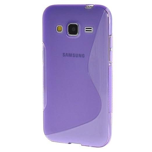 5 opinioni per HUANGTAOLI Custodia in Silicone TPU Case Cover per Samsung Galaxy Core Prime 4G