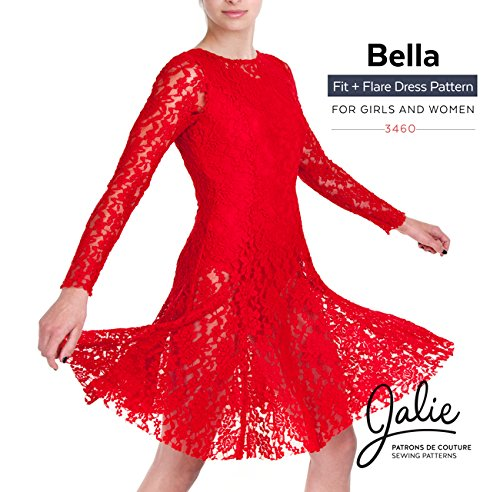 Amazon.com: Jalie Bella Scoop Neck Dancing Fit and Flare Dress ...