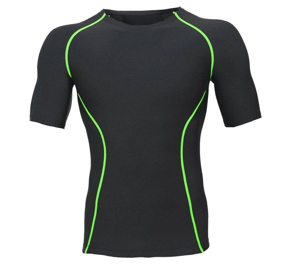 Jolie Herren Kompressions-T-Shirt Kurzarm Körperformendes Schlanker Bauch Für Fitness Laufen Radfahren