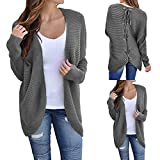 Sweater Cardigans Baigoods Women's Ribbed Knit Open Front Back Lace up Outwear