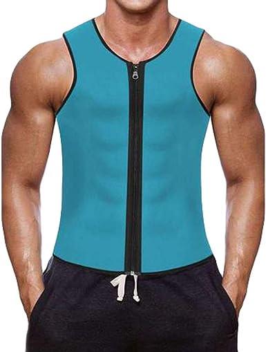 Baijiaye Hombre Sauna Chaleco con Cremallera Neopreno Camiseta Vest Chaleco para Perder Peso Corsé de Caliente Entrenador en la Cintura Camisa para Adelgazar Entrenamiento: Amazon.es: Ropa y accesorios