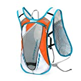 WINOMO Hydration Pack Backpack 12L Outdoors Mochilas Hydration Vest for Running(Orange)